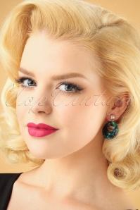 Glitz o Matic Green Hoop earrings 333 39 26657 11022018 001W