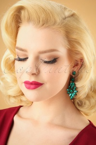Kaytie Green stone earrings 333 40 28191 11052018 model01W