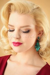 Kaytie Green stone earrings 333 40 28191 11052018 model01W