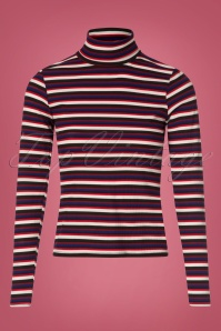 Vintage Chic Stripe Turtle Neck Shirt 113 27 26940 20180829 0001W