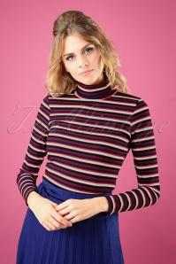 Vintage Chic Stripe Turtle Neck Shirt 113 27 26940 20180829 0002W