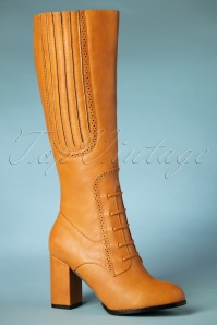 Banned Retro 40s Roscoe Boots in Tan Light Brown