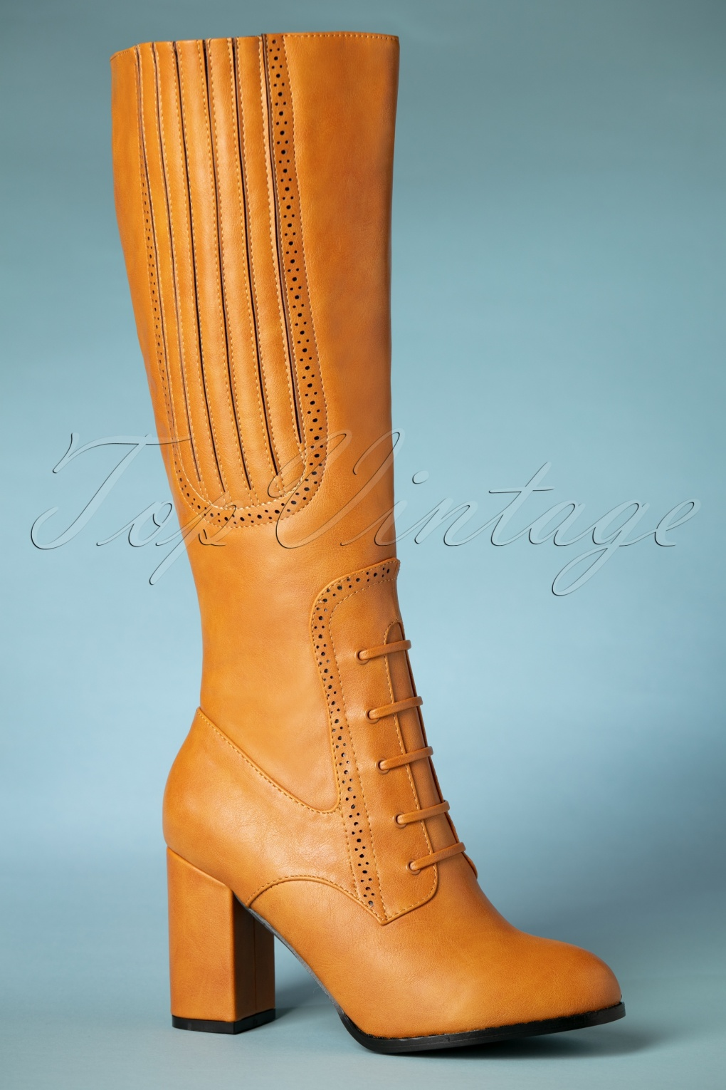 60s Shoes, Boots | 70s Shoes, Platforms, Boots 40s Roscoe Boots in Tan Light Brown £90.85 AT vintagedancer.com
