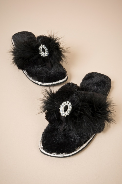 Zoe Slipper Black 429 10 25915 a