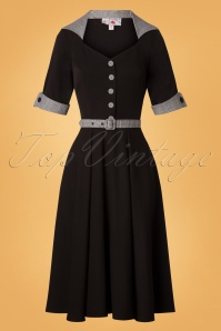 Miss Candyfloss Black Tea Swing Dress 26314 20180802 0002W