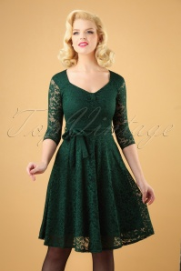 Vintage Chic Green Lace Dress 102 40 26930 20181018 007W