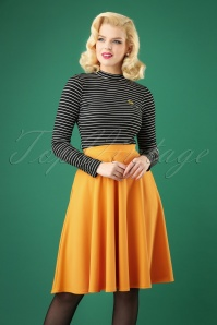 Sheila Swing Skirt Années 50 en Moutarde