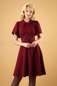 Vintage Chic Wine Swing Dress 102 20 28283 20181009 0002W