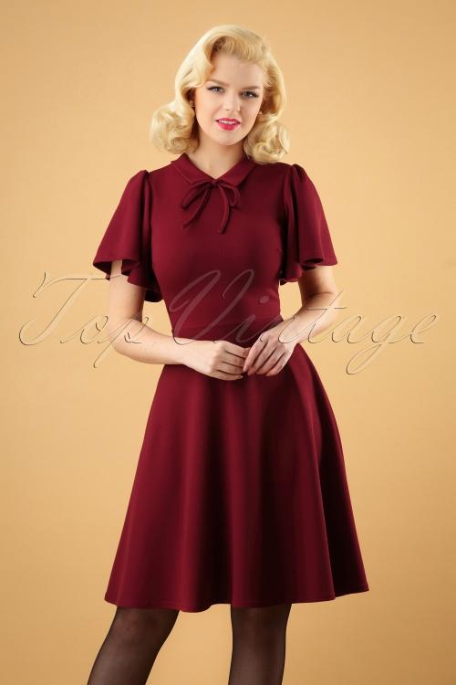 Vintage Chic Wine Swing Dress 102 20 28283 20181009 0002W