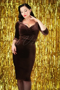 Vintage Chic TopVintage Exclusive Velvet Pencil Dress 26397 20161010 0004w