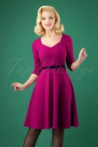 50s Suzan Swing Dress in Amaranth