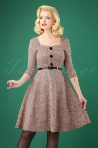 50s Roxanne Swing Dress in Powder Melange