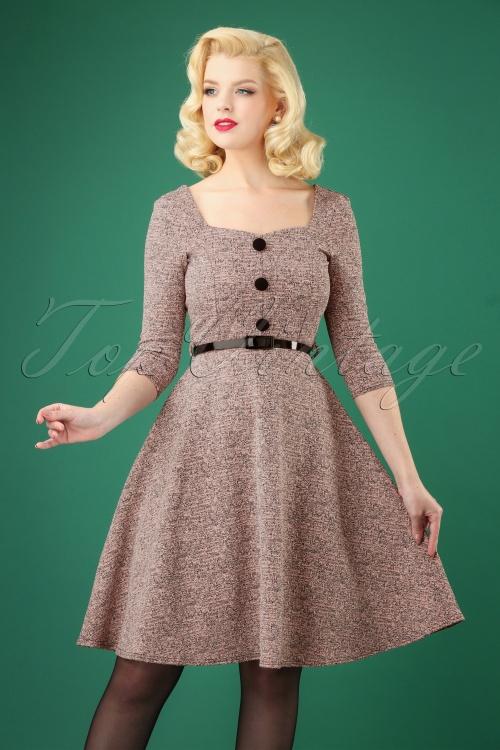 Vintage Chic Pink Tweed Swing Dress 102 22 27367 20181009 0003W