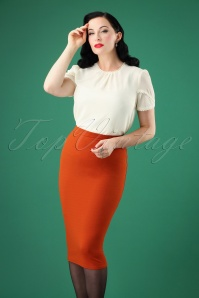 50s Bella Midi Skirt in Cinnamon