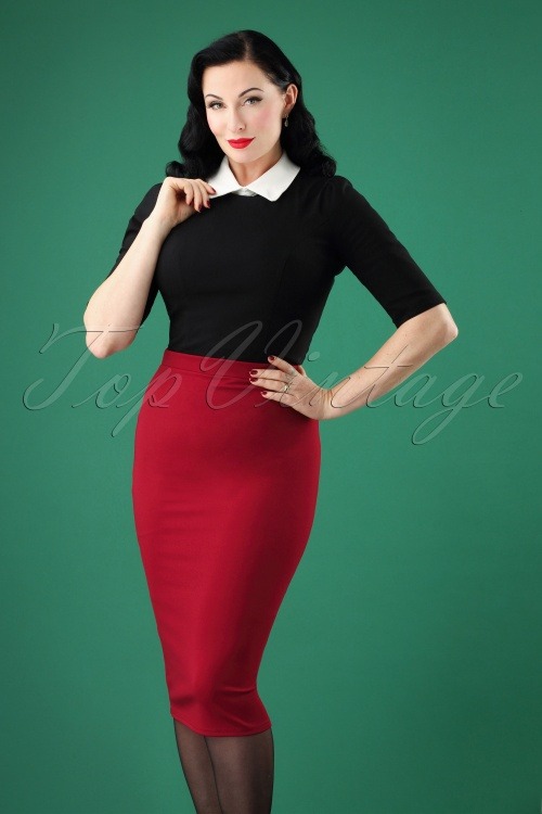 Vintage Chic Pencil Skirt 27592 20180927 0005W