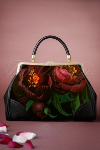 50s Nightbloom Handbag in Black