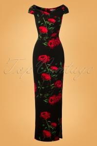 Vintage Chic Black Maxi Floral Dress 108 14 27035 20180919 0003W