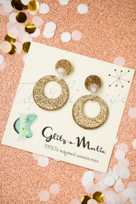 Glitz o Matic Confetti Gold Earrings 333 91 26666 11222018 003W
