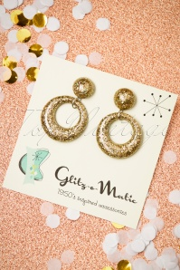 50s Confetti Hoop Earrings in Gold