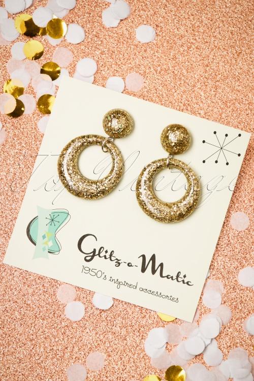 Glitz o Matic Confetti Gold Earrings 333 91 26666 11222018 001W