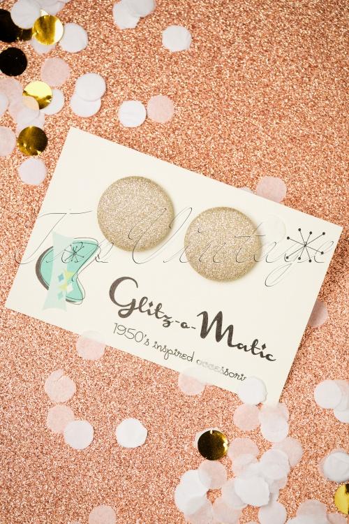 Glitz o Matic Gold Sparkle Earrings 339 90 27993 11222018 003W