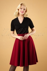 Vintage Chic 50s Sheila Swing Skirt in Red 28056 20180305 0004W