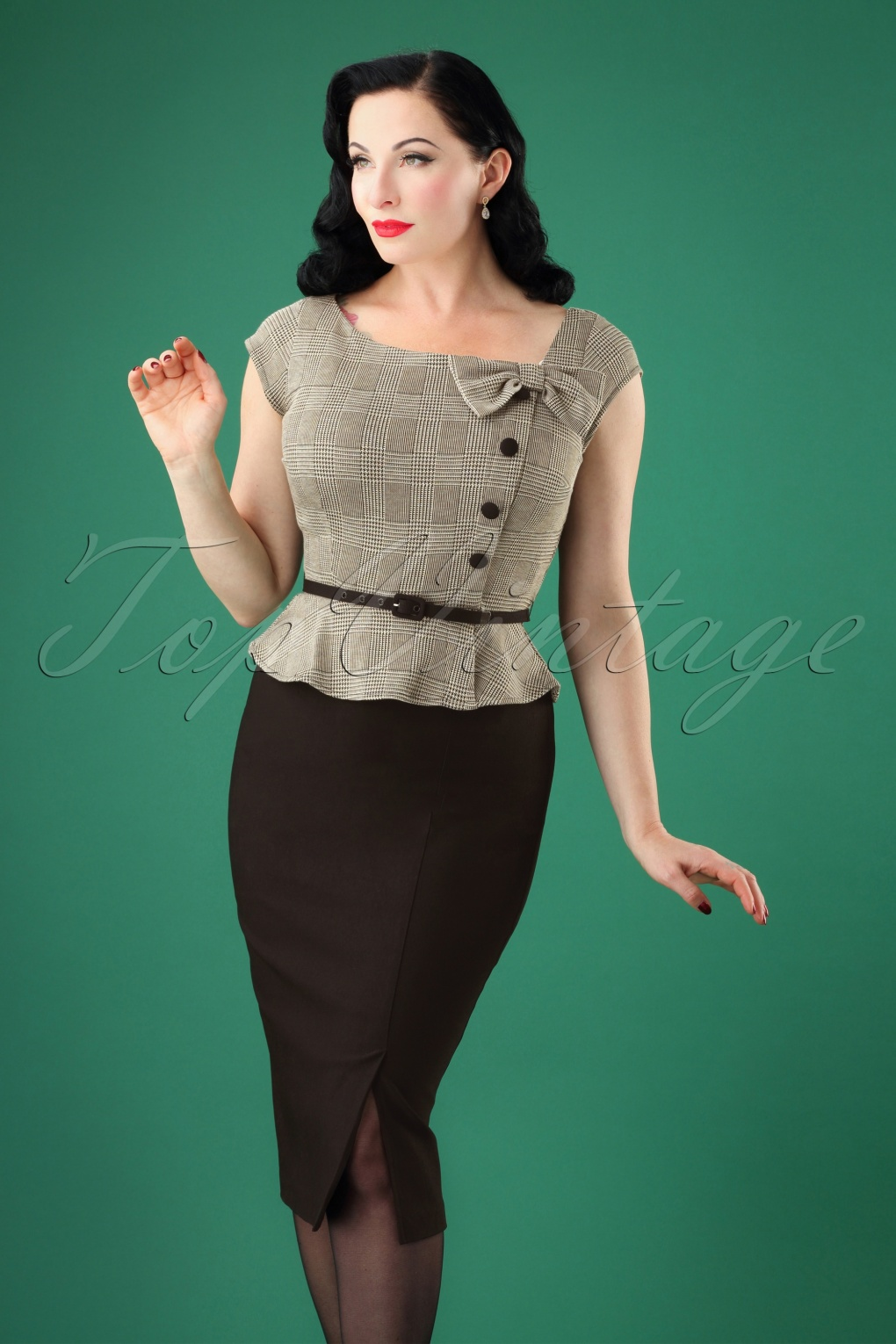 1940s Dresses | 40s Dress, Swing Dress 40s Rivka Pencil Dress in Grey £193.83 AT vintagedancer.com