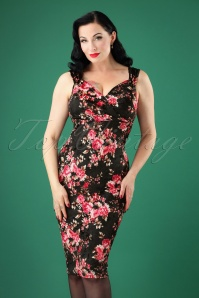 Steady Clothing Floral Velvet Dress Black 100 14 26974 20181008 0289W