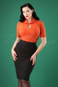 Steady Clothing 50s Audrey Pencil Skirt in Black