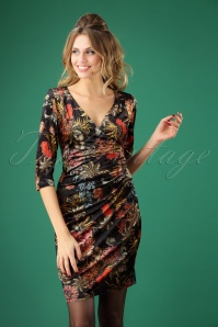 Smashed Lemon Black Floral Velvet Dress 100 14 26130 20181011 0425W