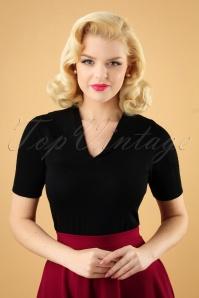 50s Karin Retro Sweater in Black