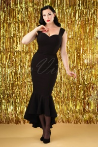 Collectif Clothing Valentina Fishtail Pencil Dress 24892 20180628 0005W