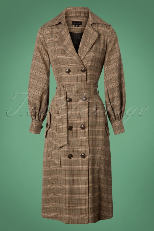 Bright and Beautiful Harlow Tweed Coat in Brown 25498 20180704 0005 1W
