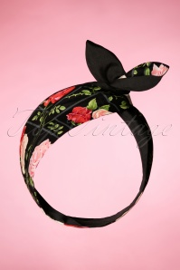 Be Bop a Hairbands 50s I Want Roses In My Hair Scarf