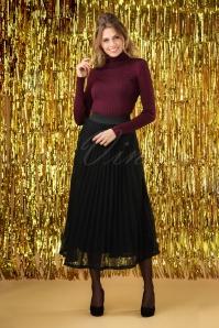 60s Bidasoa Glitter Skirt in Black