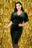 Vintage Chic Velvet Green Dress 100 40 26406 20180926 0005W