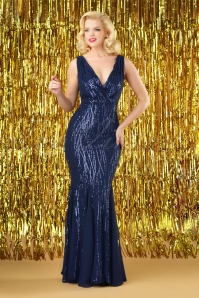 Vintage Chic Sequin Long Dress 108 31 28116 3W