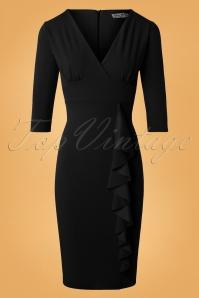 Vintage Chic 3 4 sleeves scuba crepe wine dress 100 60 26340 20180927 0004W