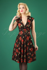 Lady V Eva Dress in Roses 102 14 28061 20181012 0002W