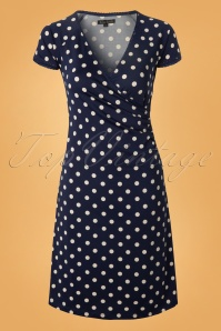 King Louie  J Blue Cross Dress Polkadot 107 39 12457 20140207 0005W