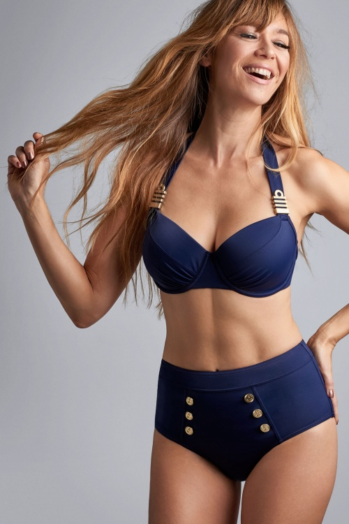 Marlies Dekkers 27900 Navy High Waist Bikini Bottom 20180927 006
