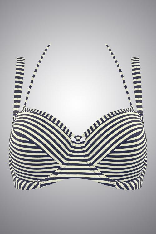 834a9c9b655 Marlies Dekkers 27907 Navy Ecru Holi Vintage Bikinitop 20140508 007