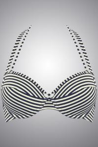 Marlies Dekkers 27907 Navy Ecru Holi Vintage Bikinitop 20140508 003