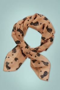 Meow At Midnight Scarf Années 50