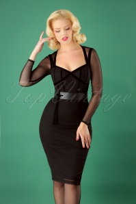 Collectif Clothing Sierra Pencil Dress in Black 25640 20180702 0014W