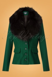 Collectif Clothing 40s Cora Jacket in Green