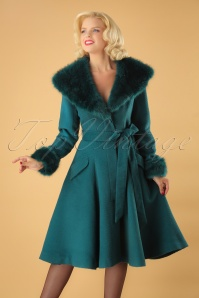 50s Christelle Coat in Teal