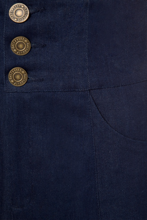 40s Freya Jeans in Navy