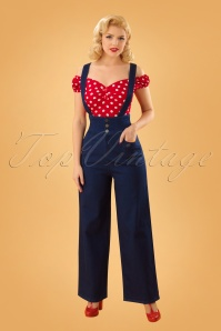 Collectif Clothing 40s Freya Jeans in Navy