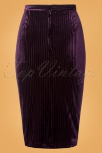 Banned Vera Velvet Skirt in Purple 26214 20180718 0007W